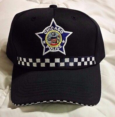 Chicago PD Cap TV SHOW  Embroidered Hat  Dark Blue Cotton