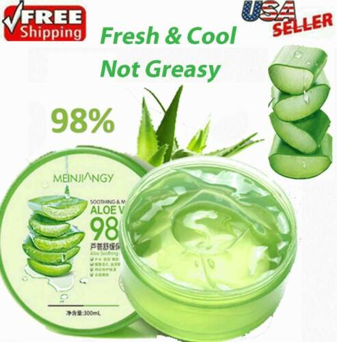 Aloe Vera 98% Moisturizing Gel True Natural Extract Soothing & Moisture 300ml US