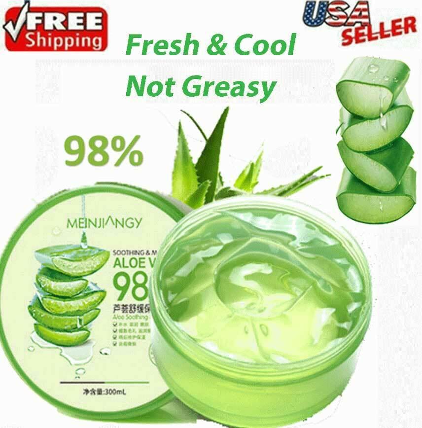 Aloe Vera 98% Moisturizing Gel True Natural Extract Soothing & Moisture 300ml US Health & Beauty