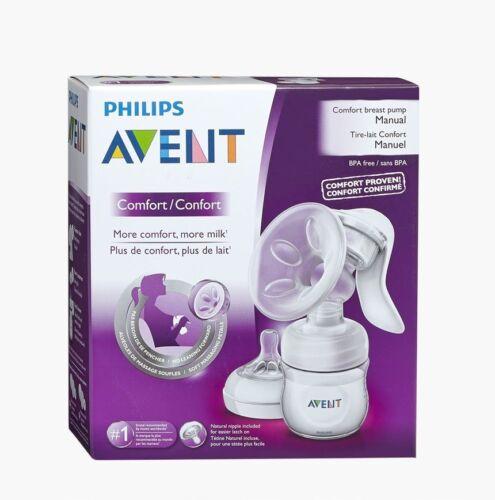Philips Avent Natural Manual Breast Pump with 4 oz Bottle NIB USA BPA FREE