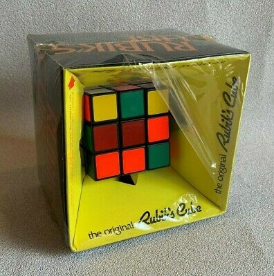 ORIGINAL VINTAGE RUBIK'S CUBE BY IDEA w Original Box and Partial Shrinkwrap for sale  Shipping to Nigeria