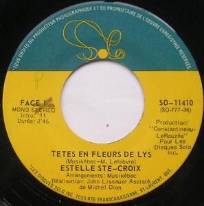 ESTELLE-STE-CROIX-Tetes-En-Fleurs-De-Lys-NM-CANADA-MODERN-SOUL-FRENCH-45-LISTEN