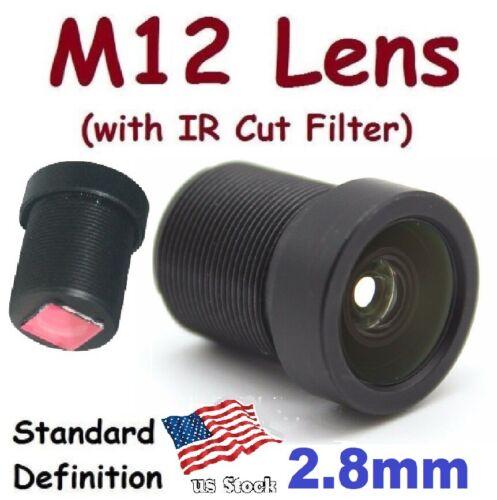 Sunvision CCTV 2.8mm Monofocal 115⁰ AOV M12 Board Lens + IR Cut Filter for FPV
