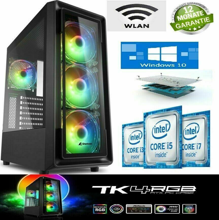 Office Büro PC/Gaming PC✅ Intel i5✅ 10GB Ram✅ Wlan Windows10 Pro