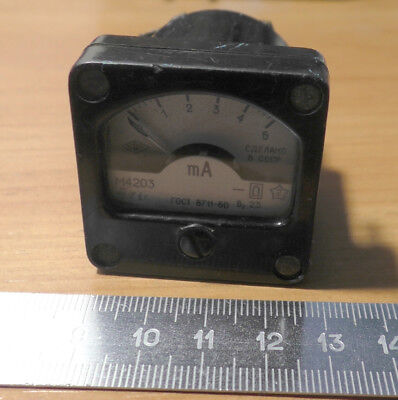 Small Ussr Miliammeter M4203 5ma 2.5 1991 Military Use