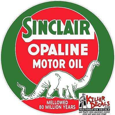 """8"""" SINCLAIR OPALINE LUBSTER OIL CAN GASOLINE GAS DECAL"""