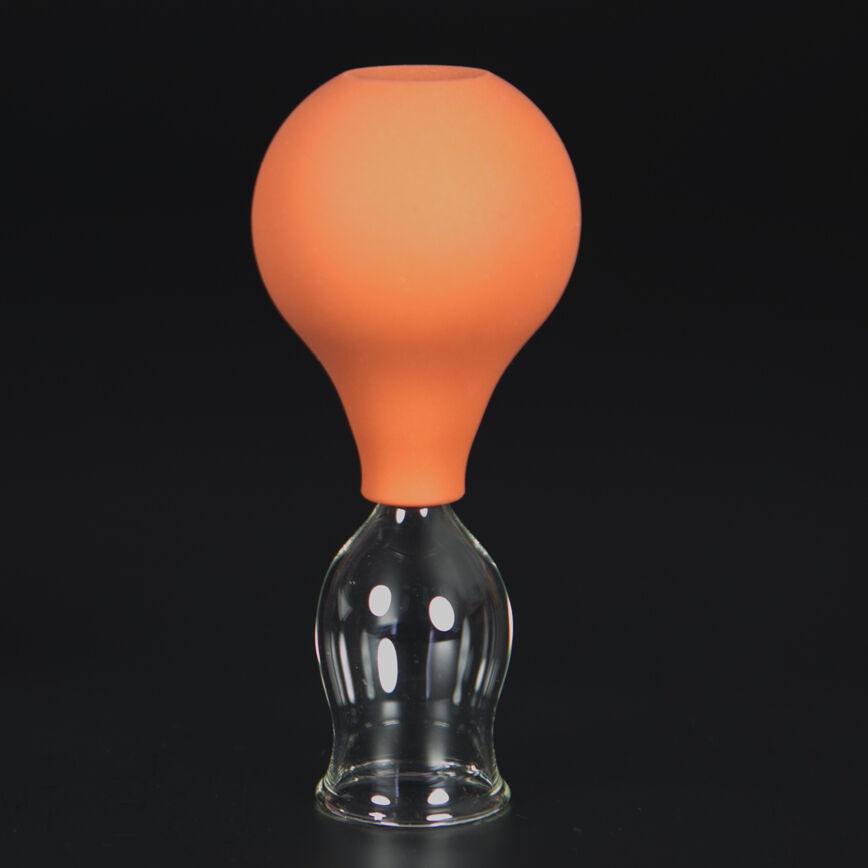 Schröpfglas Schröpfgläser mit Saugball med. Schröpfen Original Lauschaer Glas 25 mm