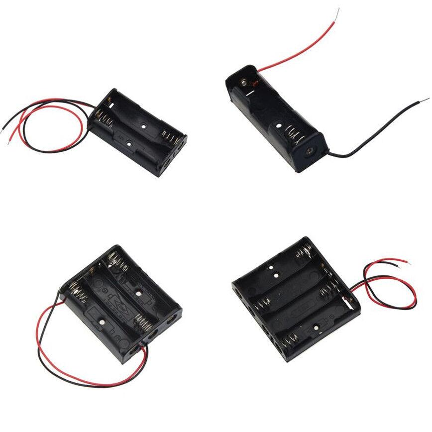 Batteriehalter für 1, 2, 3, 4 Mignon AA Batterien mit Leitung Battery box case