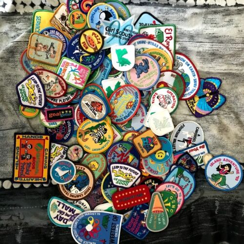Vintage Lot of Girl Scout Patches from 80