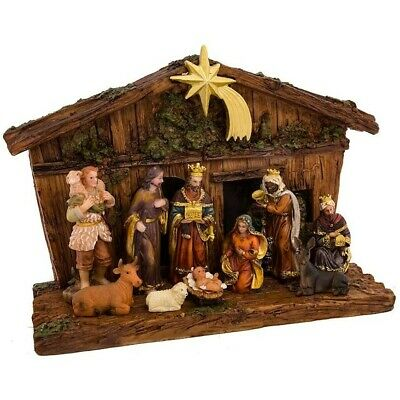 Nativity Set Indoor Christmas Holiday Scene Decor Christian Gift 11-Piece NEW Indoor Nativity Set