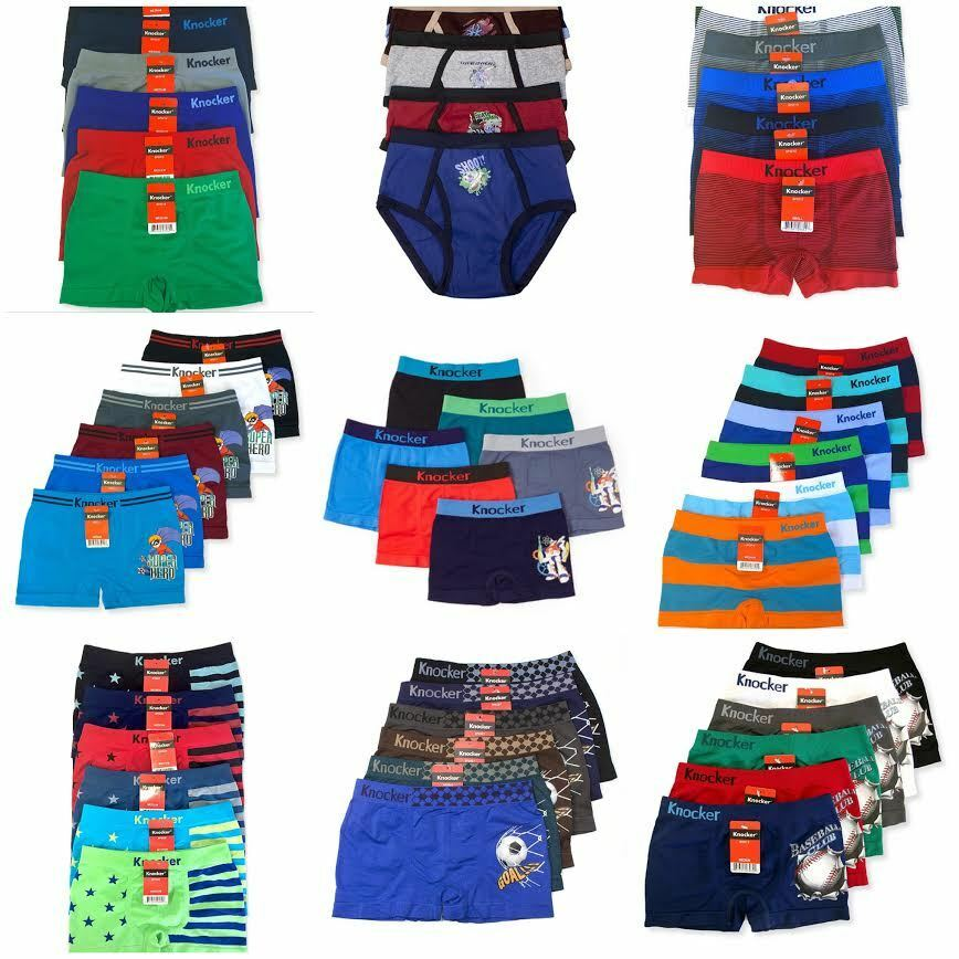 6 Junior Boys Knocker Seamless Boxer Briefs Shorts Underwear
