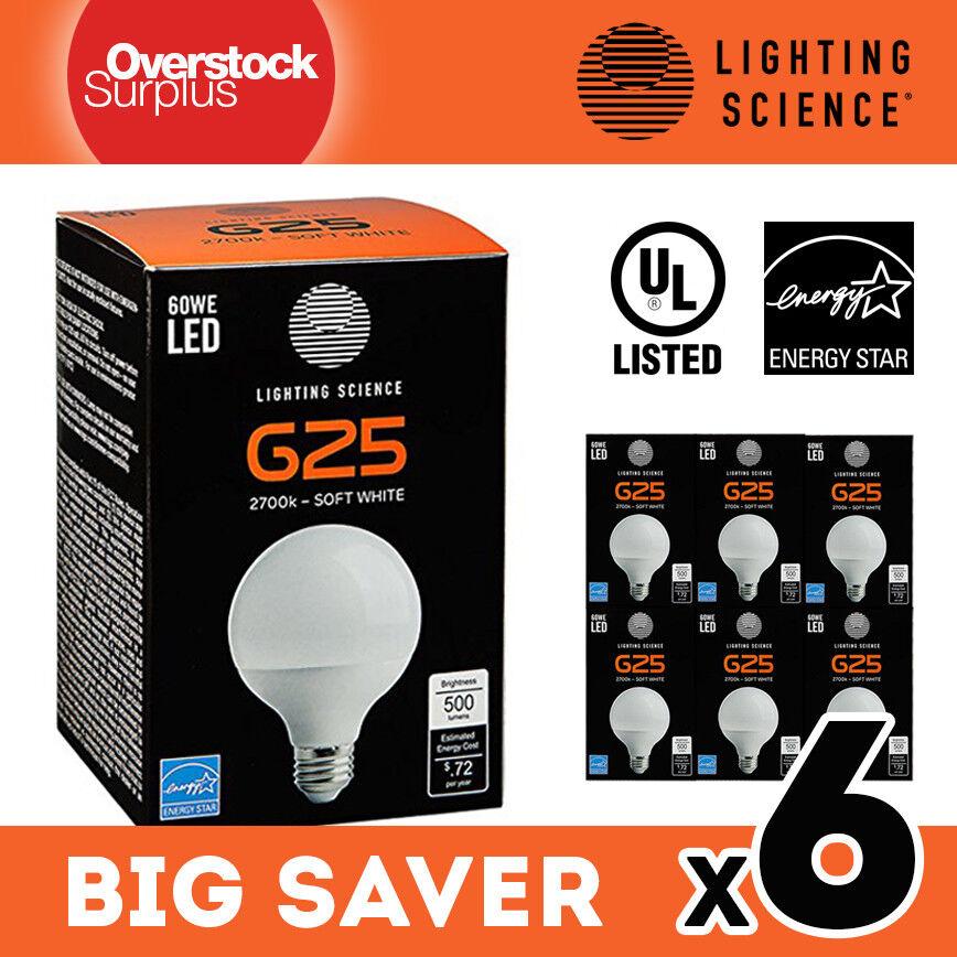 G25 Globe LED Light Bulb 6W 500lm 60W Equiv. - 2700K Standar