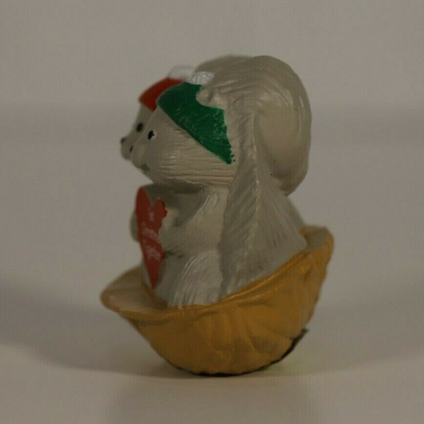 Hallmark 1992 Merry Miniature Squirrel Couple 1st Christmas Together 1 - $3.00