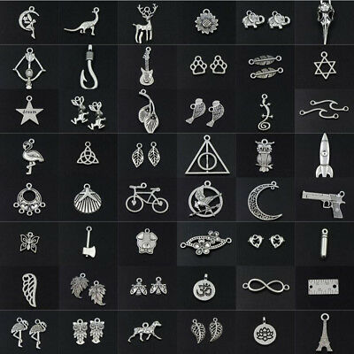 Lot Tibetan Silver Retro Gothic Charms Pendant DIY Crafts Jewelry Bracelet - Charms Jewelry
