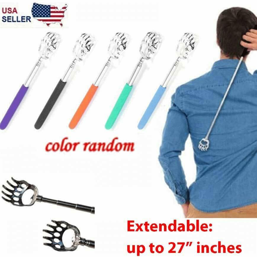 Back Scratcher Bear Claw Telescopic Metal Extendable Back Massager Gift Steel US Health & Beauty
