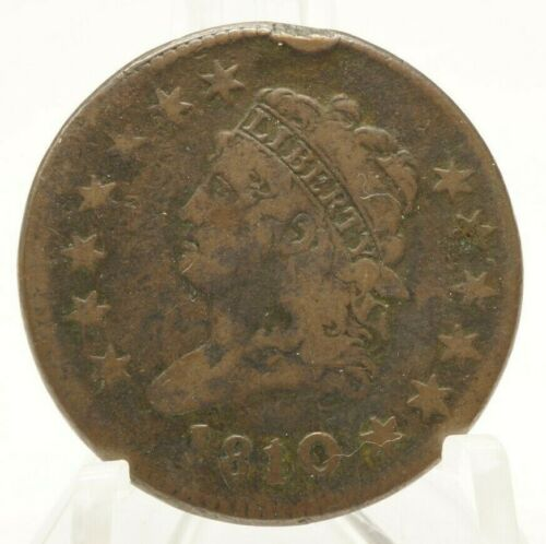 1810 Large Cent Classic Head One Cent 1c Rare Nice Coin You Grade