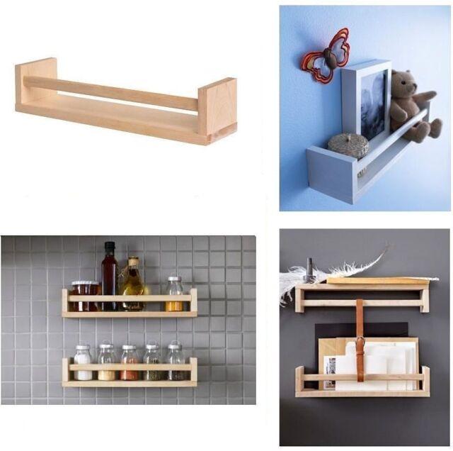 2x IKEA BEKVAM WOODEN SPICE JAR RACK Stand Kitchen Storage Shelf.