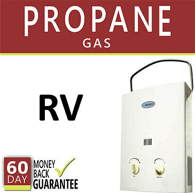 Rv Tankless Hot Water Heater Propane Gas  2 Gpm Marey Instant On Demand