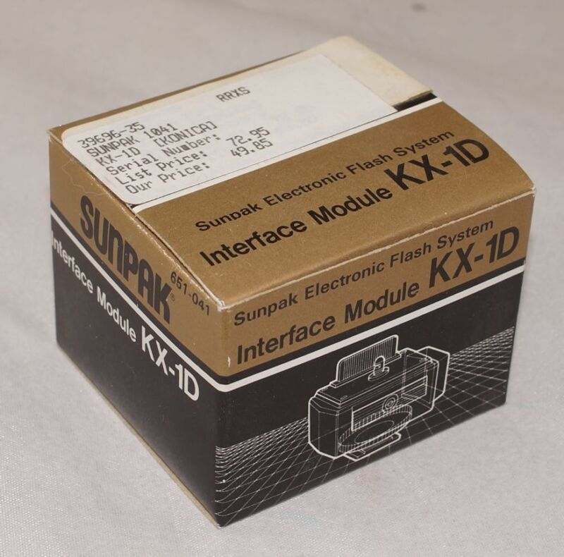 Sunpak Interface Module KX-1D New Old Stock for Konica