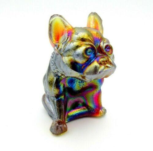 Rare vintage Westmoreland carnival glass Boston Terrier dog figurine