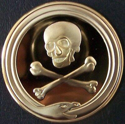 Medieval Crusade Knight Templar Skull Symbol Memento Mori Life Death Coin Token