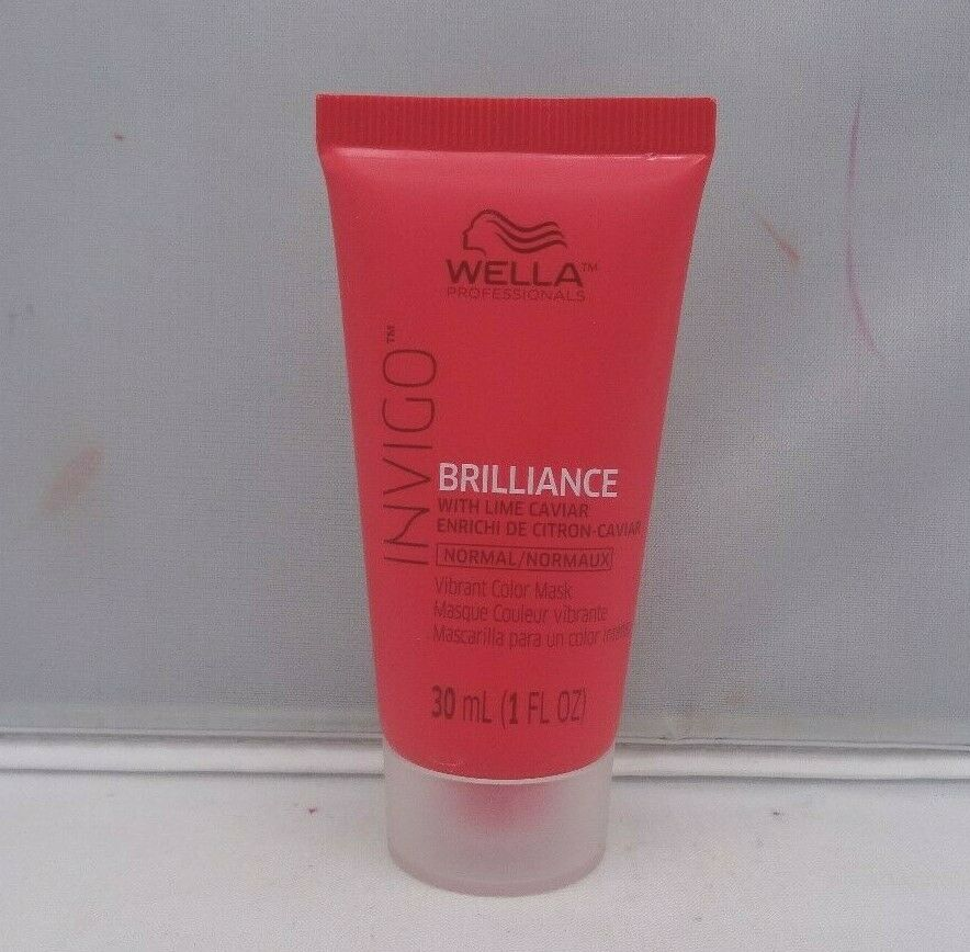Wella Brilliance Invigo Normal Vibrant Color Mask 1 oz New