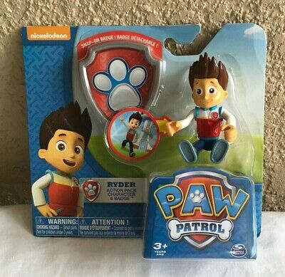 Characters In Paw Patrol (PAW PATROL RYDER ACTION PACK CHARACTER BADGE ~ NEW IN)