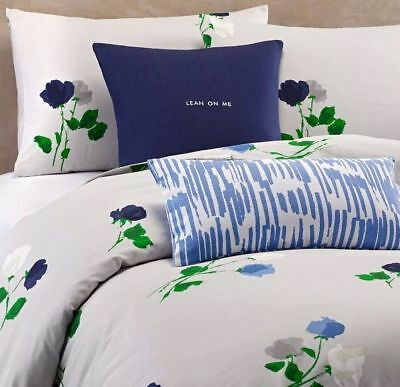KATE SPADE NEW YORK Willow Court FULL QUEEN 3 pc Comforter Set GREEN BLUE GRAY Kate Comforter Set