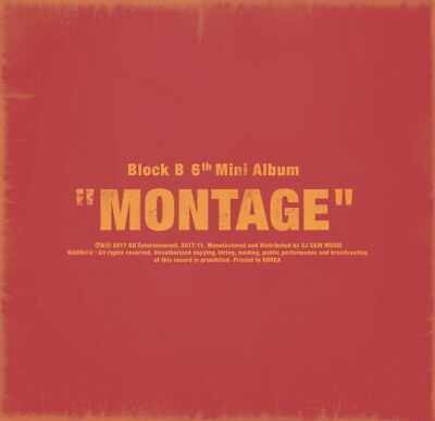BLOCK B - MONTAGE CD+Photobook+Photocard+Folded Poster+Free Gift+Tracking no.