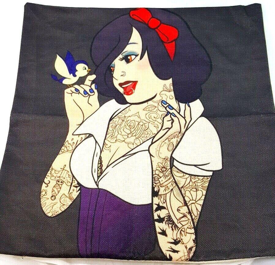Gothic Snow White Pillow Case - Gothic Pillow Disney Princes