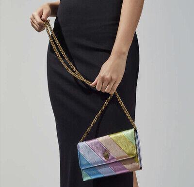Kurt Geiger Kensington rainbow Bag chain wallet/ clutch bag