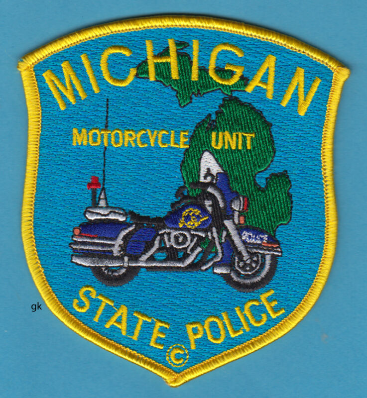 MICHIGAN STATE MOTORCYCLE UNIT HARLEY POLICE SHOULDER  PATCH