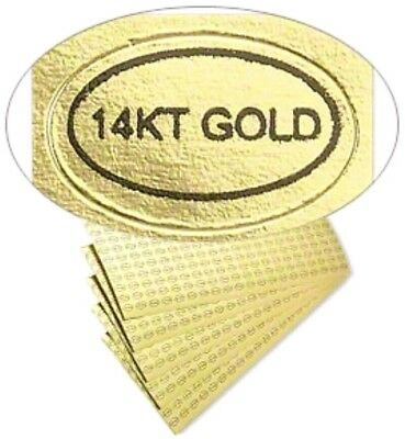 100pc.lot14k Gold Sticker Labelsjewelry Coins More Us Sellfast Shipping