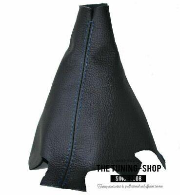 Shift Boot For Honda CR-Z 2011-2016 Black Leather Blue Stitch