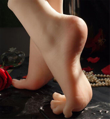 Lifelike Silicone Female Legs Feet Mannequin Shoes Socks Display Model Size 36