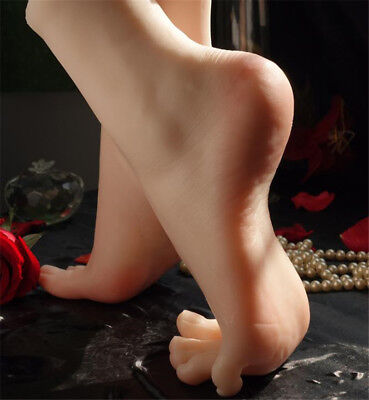 Size 36 Lifelike Silicone Female Legs Feet Mannequin Shoes Socks Display Model