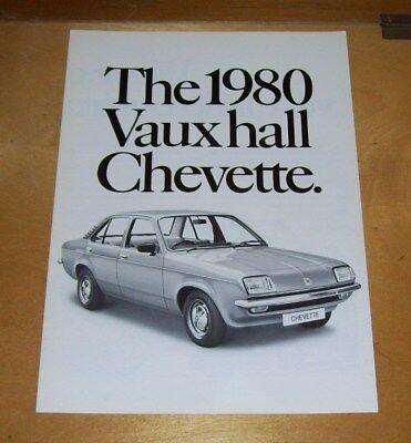 THE 1980 VAUXHALL CHEVETTE SALES BROCHURE November/December 1979 V2452