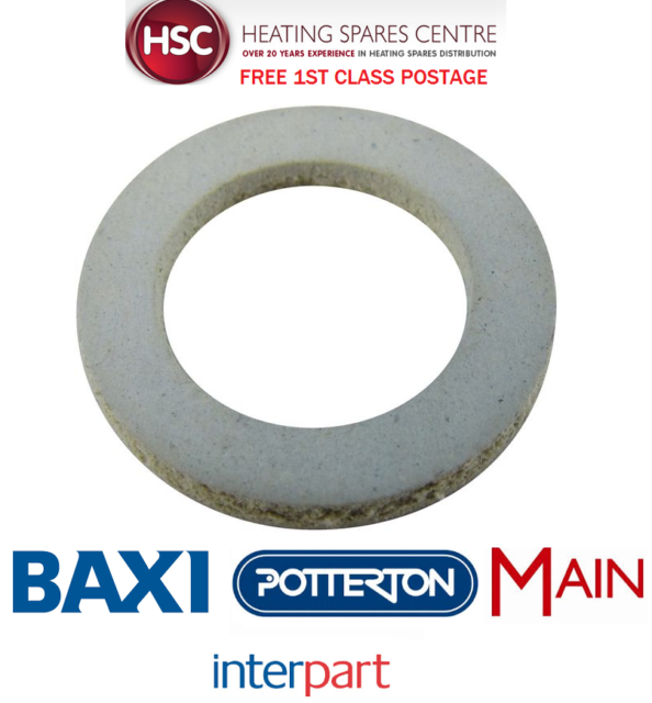 POTTERTON PROMAX SYSTEM ERP 12 15 18 24 32 FIBRE WASHER SEAL 247744 - FREE POST