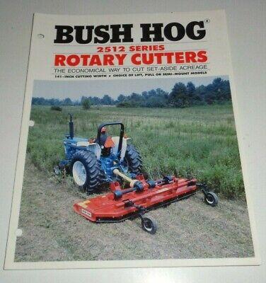 Bush Hog 2512 Series Rotary Mower Cutter Shredder Sales Brochure Literature Bh-6