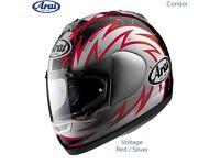 #ARAI CONDOR - MOTORCYCLE HELMET - VOLTAGE RED - SMALL - MINT COND - £100 shoei #hjc #agv