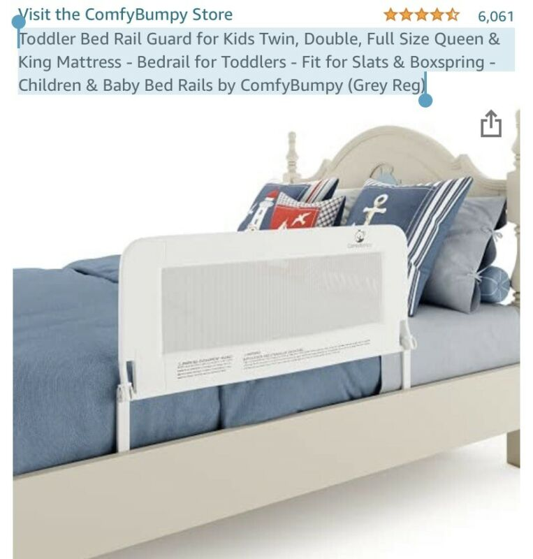 Toddler Bed Rail Guard for Kids Twin Double Full Size Queen & King Mattress -...