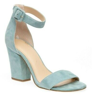 Botkier Shana Seafoam Suede Heel Ankle Strap Women's Sandals Shoes Size 7.5