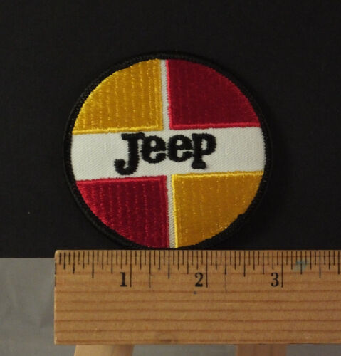 """Vintage Jeep  Embroidered Iron-on Patch NOS  3"""""""