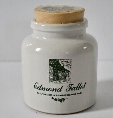 Edmond Fallot Mustard Stoneware Crock Jar Moutardier a Beaune French Mustard Pot