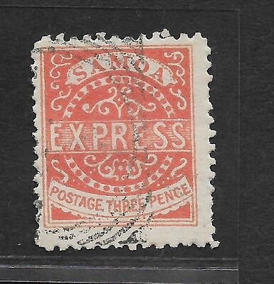 1877 SAMOA STAMP 3D SCARLET (3RD STATE BUT PLEASE DOUBLE CHECK) USED