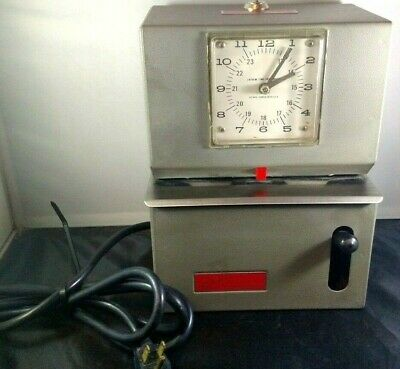 Vintage Lathem Time Recorder Card Punch Clock Industrial As-is For Partsrepair