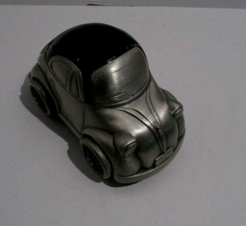 """Vintage Small Volkswagon Beetle Metal Car Coin Bank Exaggerated-form Rare"""""""