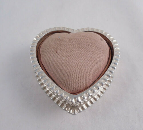 GORHAM STERLING SILVER REPOUSSE PIN CUSHION HEART