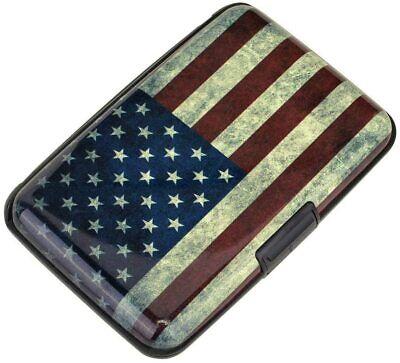 Travel Mini Rfid Wallet Id Business Credit Card Holder Aluminum Case Flag