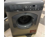 f759 graphite hotpoint 7kg 1400spin washing machine come with warranty can be delivered or collected